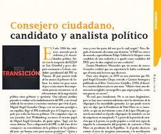Consejero ciudadano, candidato y analista político