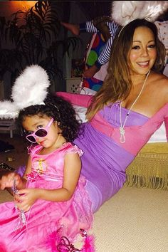 "Mariah Carey May 23, 2014 Mariah Carey and her daughter Monroe were ready for Easter on April 20, 2014. The singer wrote: ""Easter bunny? Are..."