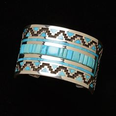 Sleeping Beauty Turquoise Cuff by Tommy Jackson