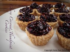 Cherry Coconut Thumbprint Cookies with some good information about the health effects of Cashews