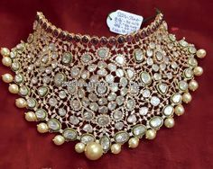 Pachi Work Heavy Kundan Choker - Jewellery Designs