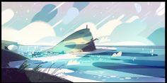 Elle Michalka - Some BGs I painted for Steven Universe's Laser...