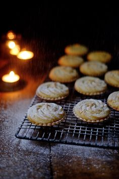 Mince pies are quite simply a must at Christmas. And don't worry, I'll let you use shop bought mincemeat. In fact, the cheapest, sweetest mincemeat is best here to balance with the crisp pastry and the buttery biscuit top, which just disappears in the Xmas Food, Christmas Cooking, Christmas Desserts, Christmas Mince Pies, Christmas Christmas, Christmas Pudding, Christmas Cakes, Pie Recipes, Baking Recipes