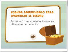 """""""Usando Coordenadas para encontrar el Tesoro"""" (Ciencias Sociales y Matemáticas de 3º y 4º de Primaria)"""