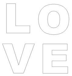 valentines day crafts print your love doorhanger letters template at allkidsnetworkcom