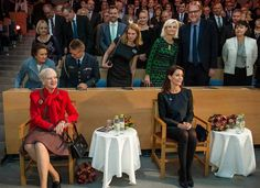 Oct. 28, 2016, Queen Margrethe  and Princess Marie attended the celebrations of 50th anniversary of opening of Southern Denmark University in Odense, Denmark.