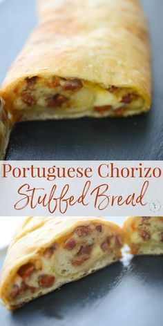 Nutritious Snack Tips For Equally Young Ones And Adults Stuffed Bread Is Similar To A Stromboli And This One Stuffed With Portuguese Chorizo, Fresh Garlic And Shredded Mozzarella Cheese Is Sure To Please. Portuguese Bread, Portuguese Desserts, Portuguese Recipes, Cuban Recipes, Spanish Recipes, Dip Recipes, Empanadas, Chorizo And Potato, Portugal