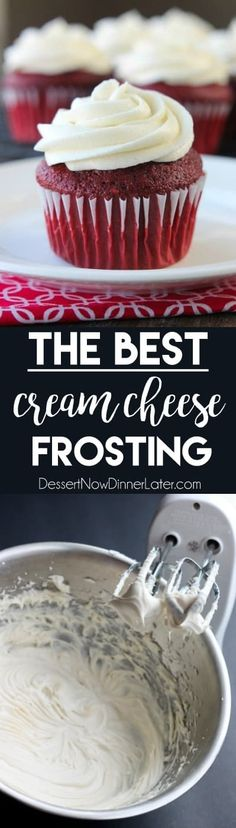 The BEST Cream Cheese Frosting thick sturdy and pipeable plus not overly sw - Hand Mixer - Ideas of Hand Mixer - The BEST Cream Cheese Frosting thick sturdy and pipeable plus not overly sweet! Icing Recipe, Frosting Recipes, Cupcake Recipes, Baking Recipes, Cupcake Cakes, Dessert Recipes, Köstliche Desserts, Delicious Desserts, Yummy Food