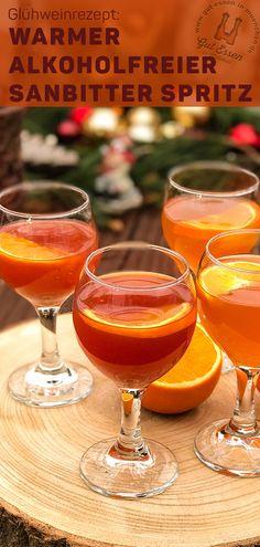 Warm non-alcoholic Aperol Spritz with Sanbitter – quick recipe – winter drinks Bloğ Winter Drinks, Winter Food, Cocktail Drinks, Cocktail Recipes, Quick Recipes, Wine Recipes, Mulled Wine, Signature Cocktail, Non Alcoholic