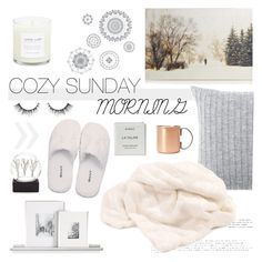 """""""Sunday Mornings"""" by southernpearldesigns ❤ liked on Polyvore featuring interior, interiors, interior design, home, home decor, interior decorating, Elvang, Forever 21, GANT and WallPops"""