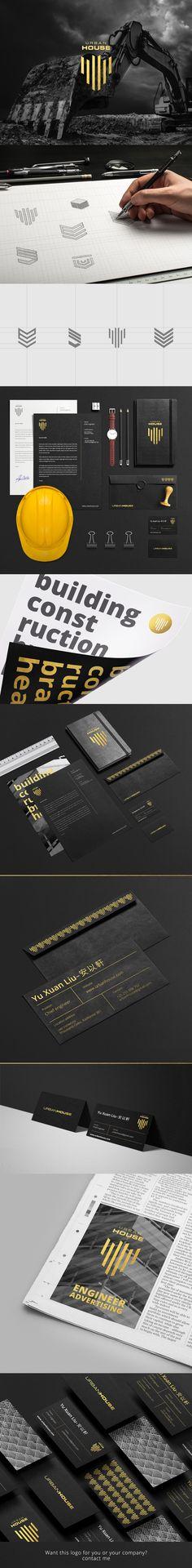 URBAN HOUSE IDENTITY On Behance Logo Entreprise Carte De Visite Design Graphique Graphisme