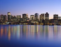 Boston Skyline. Can you deny how gorgeous this place is?? (photography, city skyline)