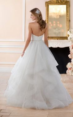 6315 Layered Ball Gown Wedding Dress by Stella York