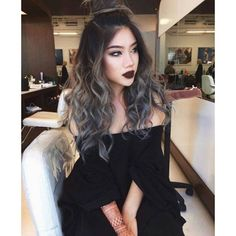 Grey Ombre Glunge Hair
