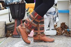 Love these fun boho boots for winter!