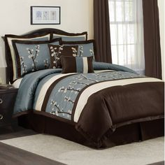 turquoise and brown comforter set - Google Search