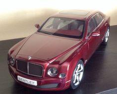 KYOSHO 08910 R 2014 14 BENTLEY MULSANNE SPEED 1/18 DIECAST MODEL CAR RUBINHO RED #Kyosho #BENTLEY