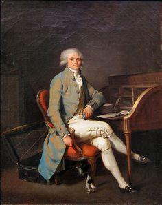 Graphic Art: Painting – Portrait de Maximilien de Robespierre, avec un chien, 1791 Louis-Léopold Boilly