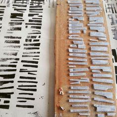 Fiona Wilson. Day 8 - Print Plate No. 8 Cardboard, foam, acrylic, newsprint, cartridge paper