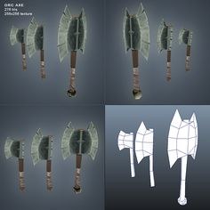 Orc Axe Low Poly - 3DOcean Item for Sale - $8
