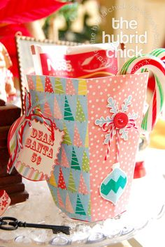 """How to create a """"Treat For Santa"""" Gift Box (using Wishing Well Creations' products)"""