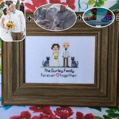 👰👦🐱❤️ Click the link in our BIO and use the code INSTAGRAM to save $5 off $50. Offer valid until July 31st. We make personalized cross stitch family portraits! They are perfect for weddings, anniversaries, birthdays and more special occasions. US Shipping. Questions? Please send us a private message. | Hacemos bordados personalizados. Perfectos para bodas, aniversarios, cumpleaños y más ocasiones especiales. Envíos dentro de los EE. UU. Preguntas? Por favor envíanos un mensaje privado. •…