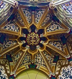 Cardiff, South Wales, UK - Ceiling of Room in Cardiff Castle | through the eyes of mporterf