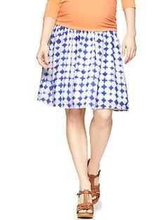 Full panel block print skirt | Gap