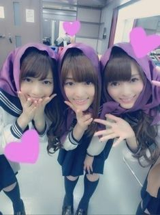 乃木坂46 (nogizaka46)  Matsumura Sayuri (松村 沙友理)  Shiraishi Mai (白石 麻衣)  Nishino Nanase (西野 七瀬)  this three too beautiful gorgeous pretty kawaii cute >o< ♥ ♥ ♥ ♥ ♥ ♥ ♥ ♥ ♥ ♥