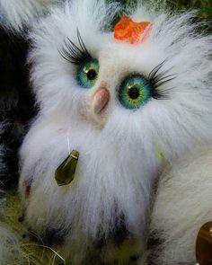 18 отметок «Нравится», 1 комментариев — Anna Magic Owl Flower (@magic.owl) в Instagram: «Совы совушки совули завораживают своим взглядом  #семья #сова #сычи #совушки #игрушки #глазки…»