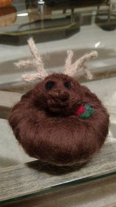 Check out this item in my Etsy shop https://www.etsy.com/listing/255732962/wool-felted-reindeer