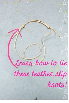 to Make Easy Boho Leather Bracelets Learn to tie these leather slip knots! It's easier than you think. Pin and save this super cute Boho Bracelet DIY from Pop Shop America.Think! Think! may refer to: Leather Jewelry, Boho Jewelry, Jewelry Crafts, Beaded Jewelry, Handmade Jewelry, Leather Bracelets, Fashion Jewelry, Amber Jewelry, Gold Fashion