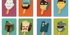 Characters as popsicle sticks