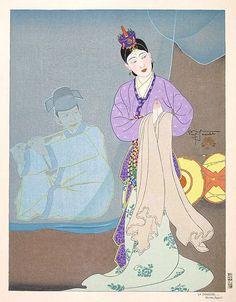 La Danseuse Coreene- Paul Jacoulet - WikiArt.org