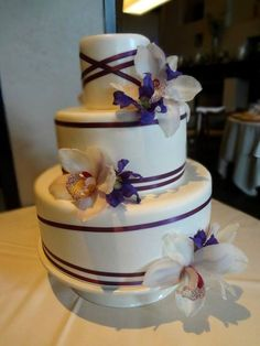 Beautifully decorated wedding cake made by our very own pastry team!