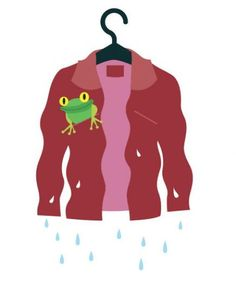 Illustration of a wet suede jacket | Use these three steps to save a suede jacket or suede shoes that have gotten wet.