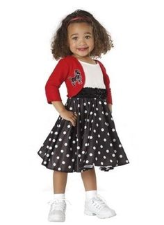 BRAND NEW Rock Oldies Sock Hop CHILD GIRLS FAB 50's TODDLER COSTUME - so cute