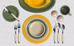 Check out my Colorama by Fiesta® customized table setting! Click to create your own.