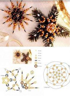 Снежинки из бисера. Схемы плетения | БЛОГ ДОМОХОЗЯЙКИ