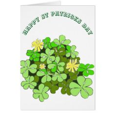 St Patricks Day Card - holiday card diy personalize design template cyo cards idea