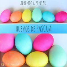 como pintar huevos para pascua