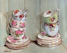 австралийская художница гейл маккоррмак, розы, винтаж