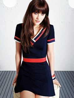 To Tommy From Zooey, tipped v-neck dress