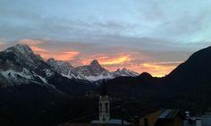 Tramonto da Venas di Cadore Dolomiti Belluno by Gemma B.