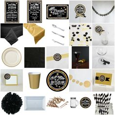 Gold Chalkboard Graduation Ultimate Party-in-a-box