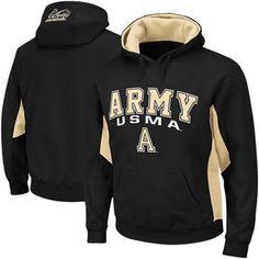 Army Black Knights Turf Fleece Pullover Hoodie - Black