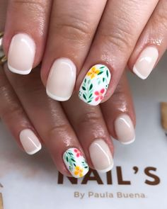 The 57 pretty nail art designs that perfect for spring looks 3 Best Acrylic Nails, Gel Nail Art, Gelish Nails, My Nails, Manicures, Cute Nail Art Designs, Magic Nails, Pretty Nail Art, Yellow Nails