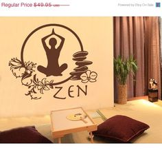 Dance Into May SALE Zen wall decal, sticker, mural, vinyl wall art