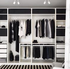 Bilderesultat for ikea pax garderobe Pax Wardrobe Planner, Wardrobe Organisation, Mens Closet Organization, Pax Planner, Wardrobe Storage, Organization Ideas, Closet Bedroom, Home Bedroom, Closet Wall