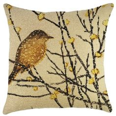Shop for Yellow Bird Burlap 18-inch Throw Pillow. Get free shipping at Overstock.com - Your Online Home Decor Outlet Store! Get 5% in rewards with Club O! - 21061255